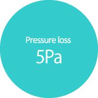 Pressure loss 5Pa